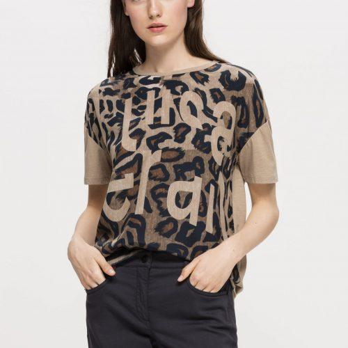 Luisa Cerano T-Shirt with Animal Print