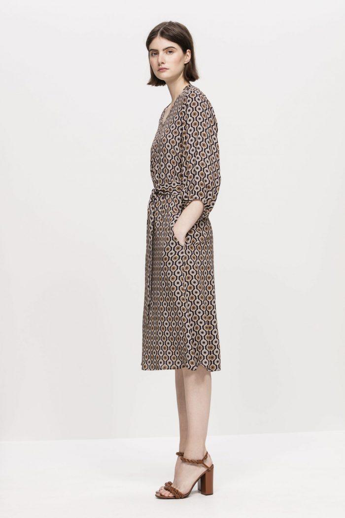 Luisa Cerano Dress with Graphic Print