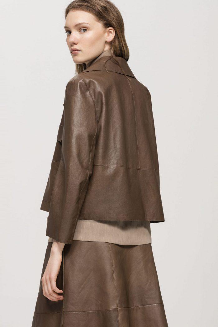 Luisa Cerano Lamb Nappa Leather Jacket